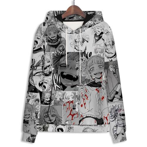 My Hero Academia Himiko Toga Men/'s Women Hoodie Sweater Coat Cosplay Costume