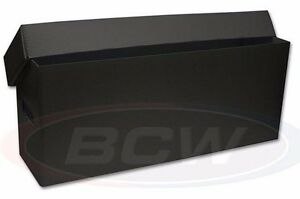 Black Long Plastic Comic Storage Box - Holds About 200 to 225 Comics