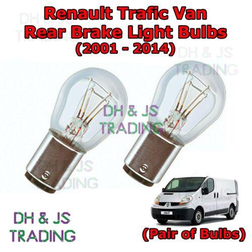 Renault Trafic Rear Brake Light Bulbs Pair of Stop Tail Light Bulb Van 01-14