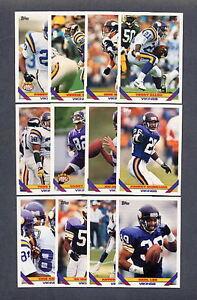 1993 Topps Minnesota Vikings TEAM SET (22) Cards