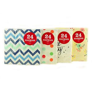 24-Packung-Papierservietten-Party-Servietten-Geschirr-Dekor-Esszimmer