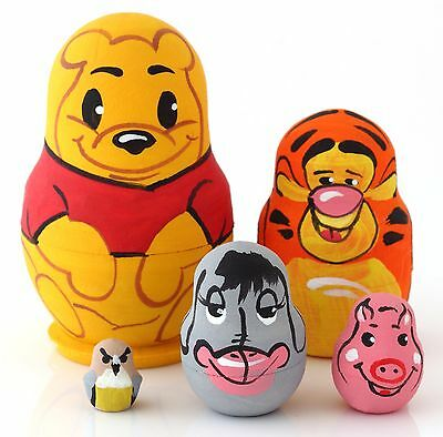 Winnie the Pooh Nesting dolls Matryoshka Hand Painted 5pcs