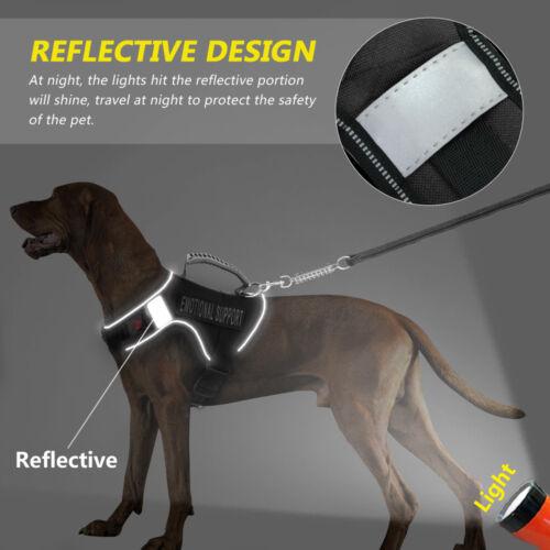 Reflective Dog Emotional Support Harness ESA Service Vest Adjustable Rottweiler