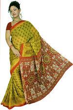 Chiffon Bollywood Karneval Sari Orient Indien Fo341