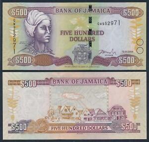 JAMAICA 500 DOLLARS 2005 P 85 UNC