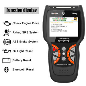 Details about Innova 7100P Automative OBD2 Diagnostic Scanner ABS Airbag  SRS Oil Battery Reset