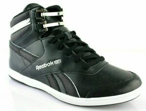 Reebok-Classic-Jacquard-MID-Damen-Schuhe-leder-schwarz-Sneaker-High-Gr-37-38