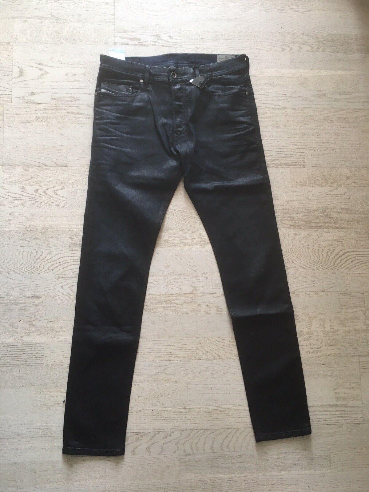 Diesel Tepphar Herren Jeans Blau W32 Neu Slim Fit gewachst