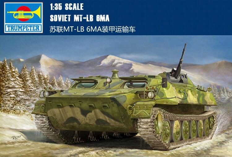 Trumpeter Soviet MT-LB 6MA Tank Armored Transport Car 1 35 Model Kit DIY 05579