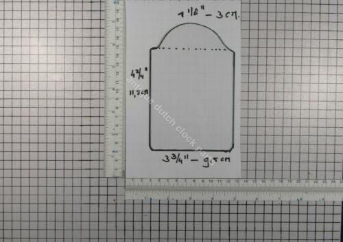 REPLACEMENT GLASS PANE FOR WARMINK MEDIUM SIZE TABLE CLOCK