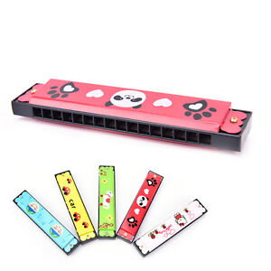 Kids Metal Cartoon 16 Holes Harmonica Mouth Organ Musical Instruments Toy TB