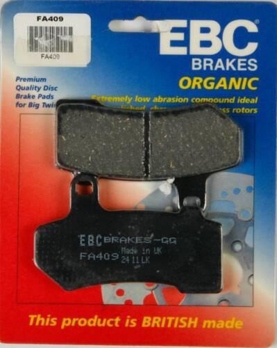 Rear 2008-2014 Harley-Davidson FLHX Street Glide Street EBC Organic Brake Pads