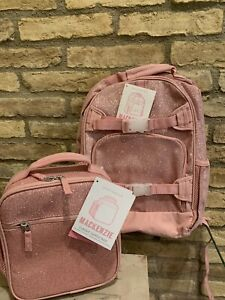 Pottery Barn Kids Large Pink Glitter Backpack Lunch Box