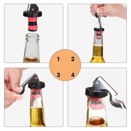Practical Stainless Steel Champagne Stopper Sparkling Wine Bottle Cap Opener