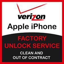 APPLE IPHONE 6S+ 6S 6+ 6 5S 5C 5 VERIZON FAST FACTORY UNLOCK SERVICE