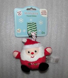 Rashti-Magic-Years-Baby-Christmas-Santa-Hanging-Plush-Crinkles-Chime-Toy-NEW