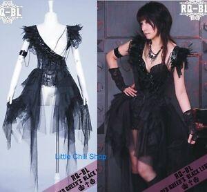 Lolita-Nana-CYBER-PUNK-GOTHIC-SEXY-One-Shoulder-Dress-COVER-21079-Black-S-L