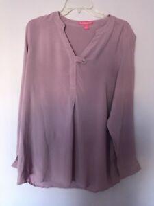 43993e72e6732 Woman Within Women s Plus Size 14 16 Medium Rayon Long Sleeve Blouse ...