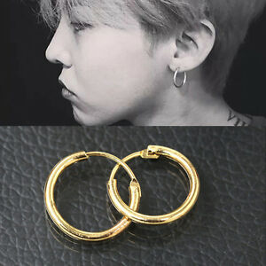 Fashion-Sterling-Silver-Gold-Endless-Hoop-Rings-Lip-Nose-Ear-Studs-Earrings-JR