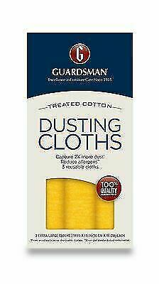 3 Ultimate DUSTING CLOTH Wood Furniture Polishing Clean Cotton GUARDSMAN 462800