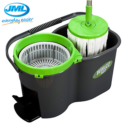 JML Whizz Spin Mop and Bucket Super Absorbent Microfibre Home Cleaning Set