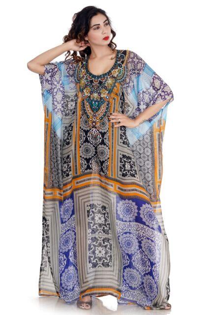 84ee44eb425 Sakhee Kaftans silk maxi dress full length printed Beautiful caftan beach  wear