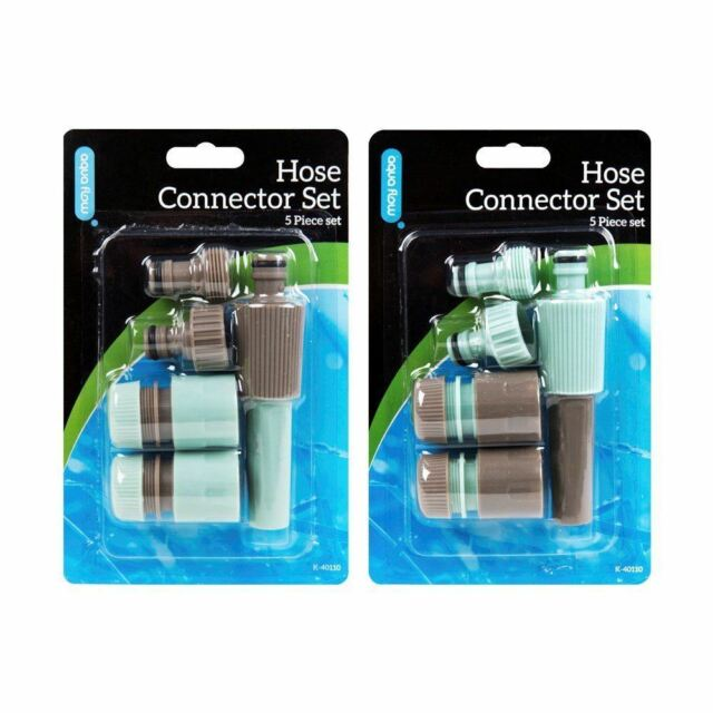 GARDEN HOSE WATER PIPE FITTINGS SPRAYER CONNECTOR PACK SPRAY NOZZLE STARTER SET