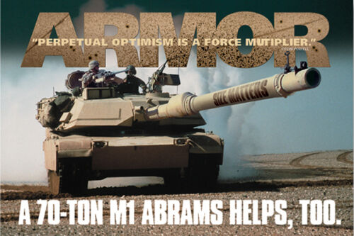 Size Matters Military Soldier Protect and Serve Print Poster 24x36