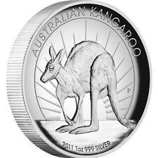 Australia 2011 $1 Australian Kangaroo High Relief 1 Oz Silver Proof Coin