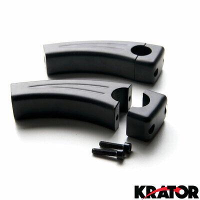 Krator XH6014-002B Bike Handlebar 4.5 Black Motorcycle Cruiser Pullback Risers for 1 Inch Bars