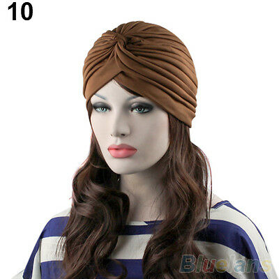 Popular Unisex Indian Style Stretchable Turban Hat Hair Head Wrap Cap Headwrap