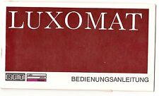 Bedienungsanleitung RFT Luxomat Fernsehgerät TV Fernseher DDR 1975 !