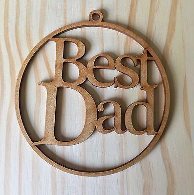 """Laser Cut """"best Dad"""" Christmas Tree Bauble, Gift Tag Gediversifieerd In Verpakkingen"""