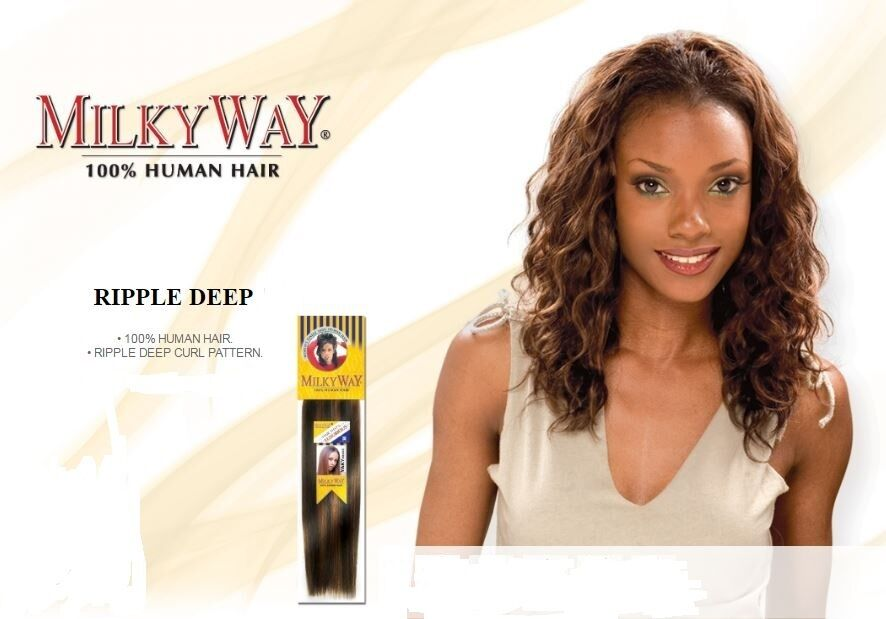 Ripple Deep Milkyway 100 Human Hair Shake N Go Ebay