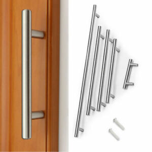 Stainless Steel T bar Modern Kitchen Cabinet Door Handles Drawer Pulls Knobs