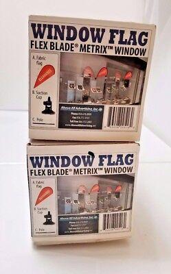 Window Flag Flex Blade Metrix Window AboveAllAdvertising Inc