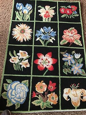 Vera Bradley Wool Rug Botanica 41 5 X 63 Signed By Barbara Baekgaard New Ebay