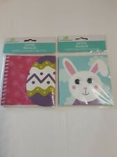 Lot X2 Easter Notebooks 1 Spiral Egg 60 Sheets Amp 1 Bunny 50 Sheets Bnwt