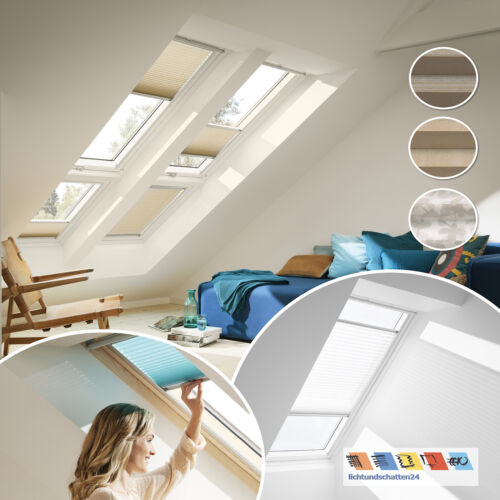 Original Velux Dachfenster Plissee Faltstores Faltrollo 1260 1263 1264 VL VU VKU