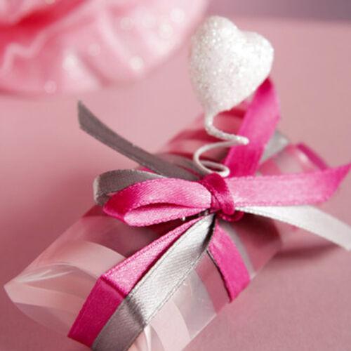 Satén banda 15mm x 25m Ivory regalo cintas bucles banda boda invitado regalos