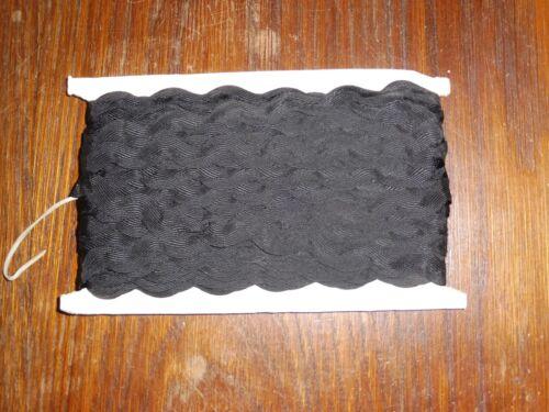 1,3//1,8cm 50m pro Pappe DDR OPEW Höhe ca 0,40€//m schwarze Zackenlitze//Litze
