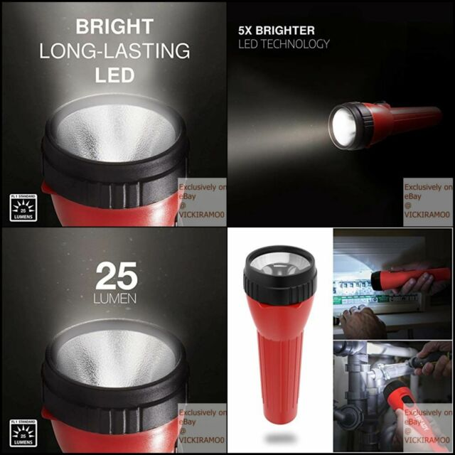Outdoor Camping Batteries Included Eveready LED Flashlight Multi-Pack with Batteries Bright and Durable Extended Battery Life Use for Emergencies
