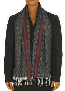 NEW-GUCCI-MEN-039-S-LUXURY-100-CASHMERE-WEB-DETAIL-GUCCISSIMA-NECK-SCARF-WRAP-SHAWL