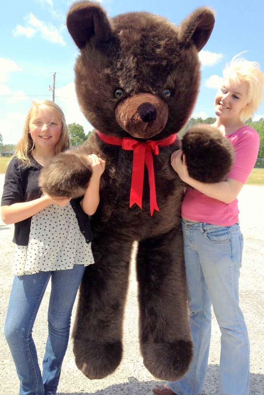 American Made Giant 6 Foot Teddy Bear Dark Brown Soft Stuffed Jumbo Teddy Bear