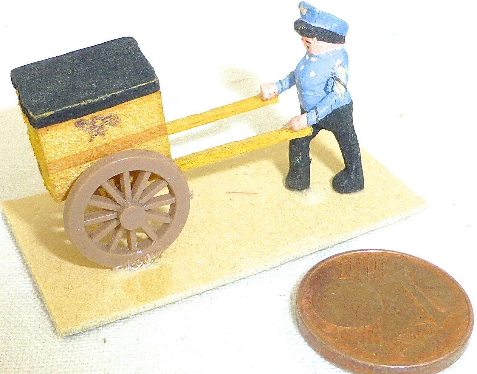 POST Trolley con Schaffner legno Preiser nr 444 1:87 h0 #gd1 pr6 Å *