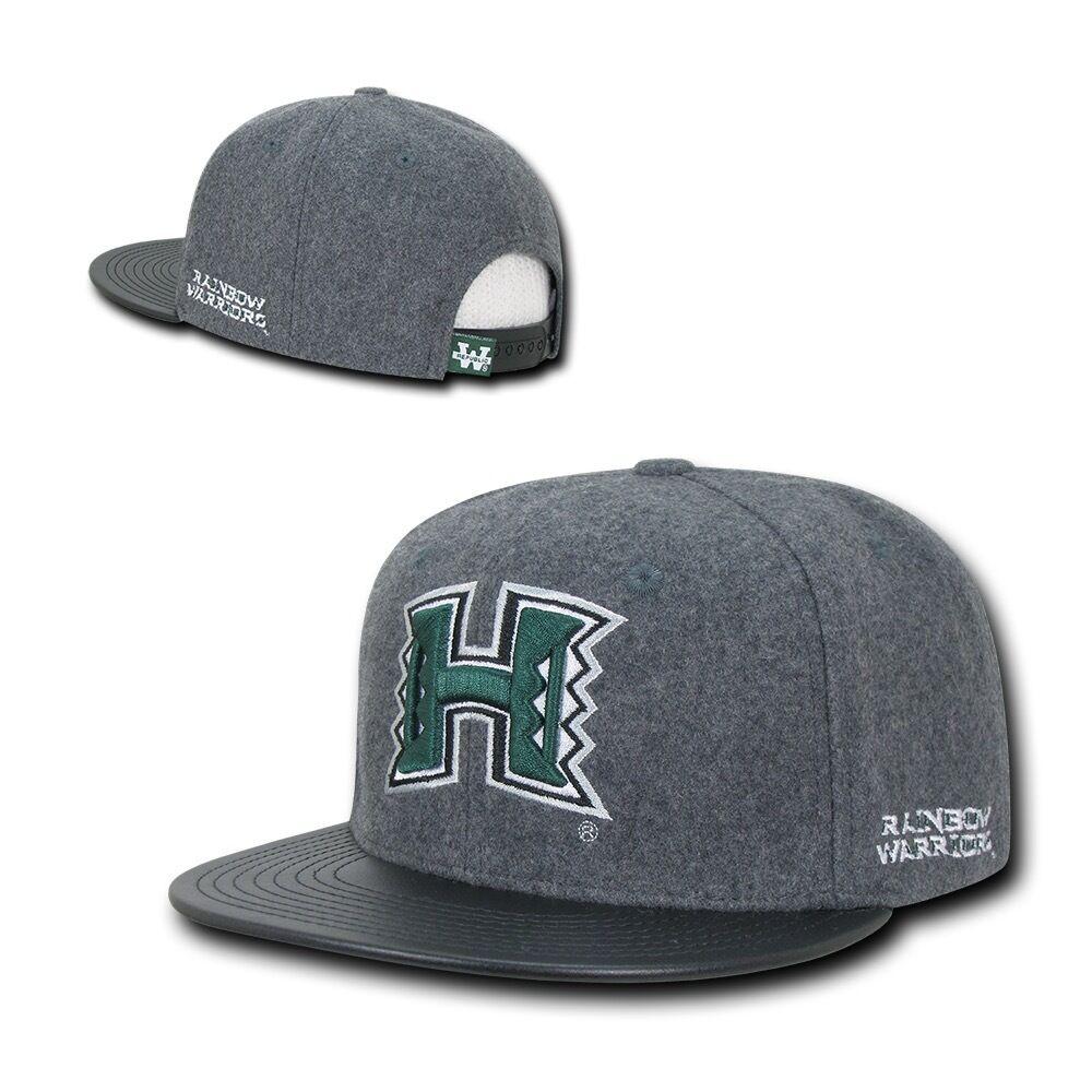 NCAA Hawaii University Rainbow Warriors Melton Vinyl Hats Snapback Baseball Caps Hats Vinyl 4b20d9