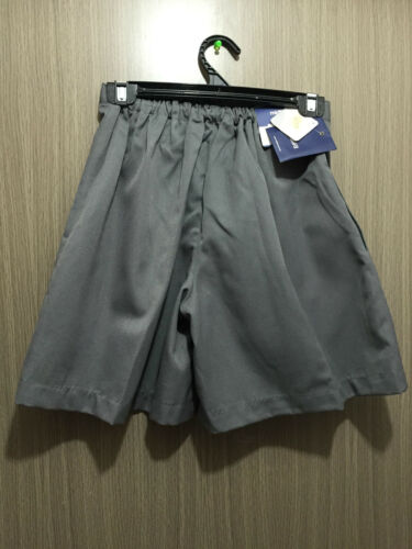 BNWT Girls Medium Grey Midford Brand Sz 22 School Uniform Skort Style Culottes