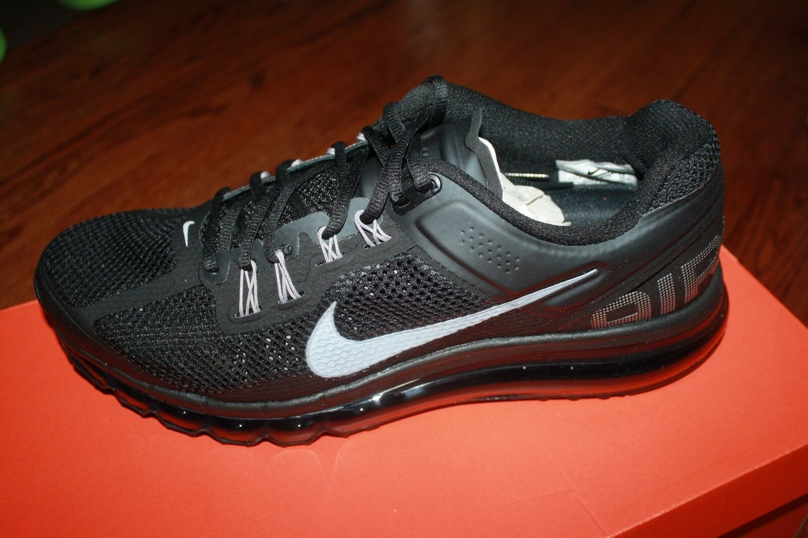 high quality NIKE MEN'S AIR MAX+ 2013 RUNNING SHOES BLACK