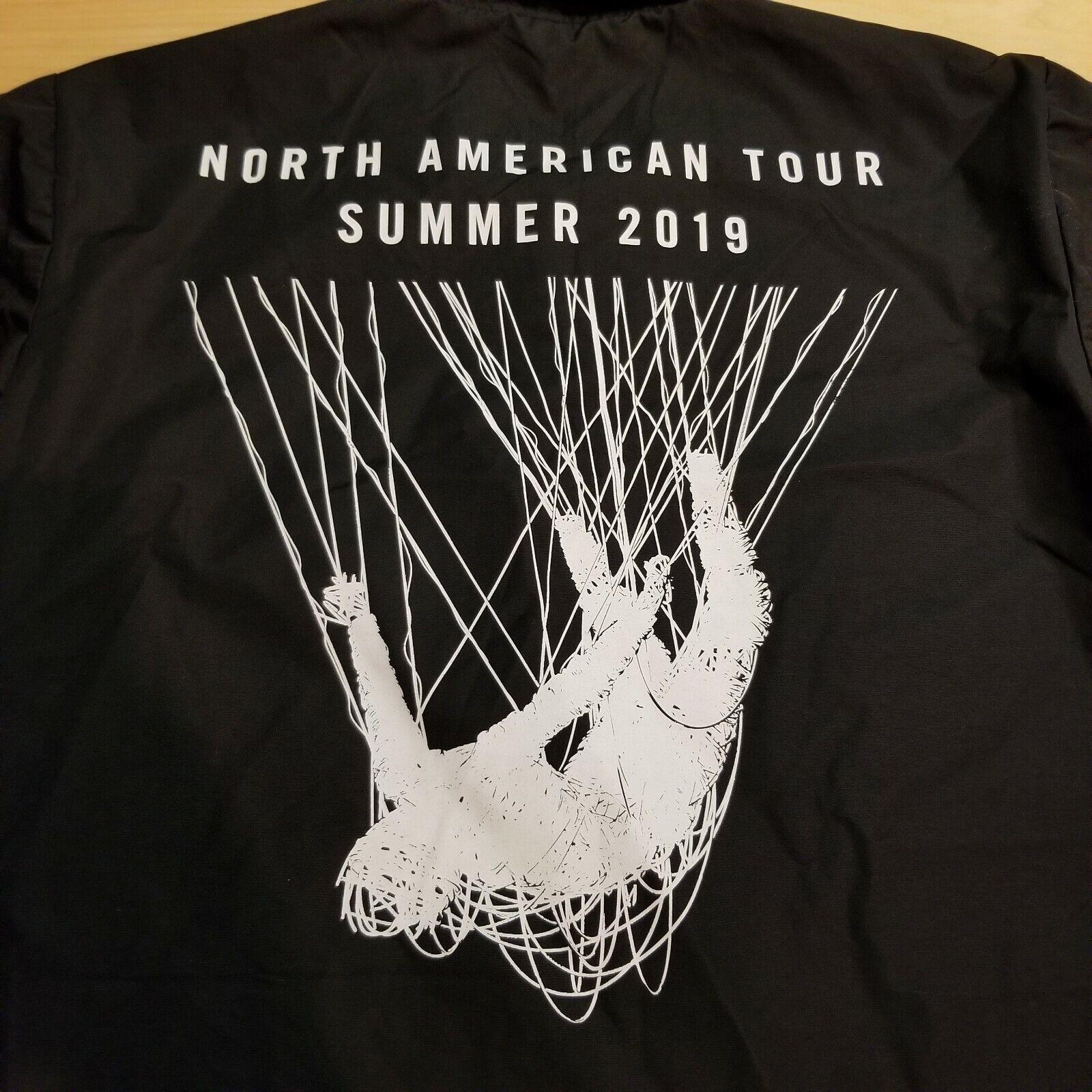 KORN Band 2019 Concert Tour Jacket Windbreaker, Black Size Large - Ships Free