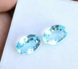 10 pic.natural Sky Blue Topaz oval shape cabochon with free shipping